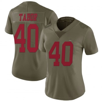 Women's Nike San Francisco 49ers Teez Tabor Green 2017 Salute to Service Jersey - Limited