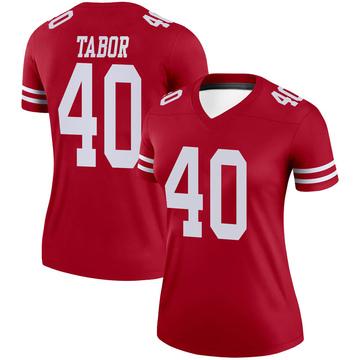 Women's Nike San Francisco 49ers Teez Tabor Scarlet Jersey - Legend