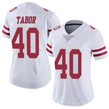 Women's Nike San Francisco 49ers Teez Tabor White Vapor Untouchable Jersey - Limited
