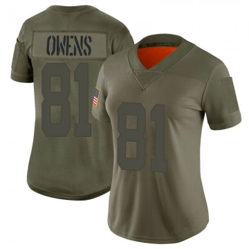 Women's Nike San Francisco 49ers Terrell Owens Camo 2019 Salute to Service Jersey - Limited
