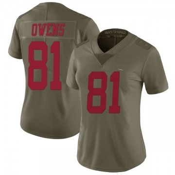 Women's Nike San Francisco 49ers Terrell Owens Green 2017 Salute to Service Jersey - Limited