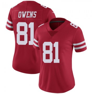 Women's Nike San Francisco 49ers Terrell Owens Scarlet 100th Vapor Jersey - Limited
