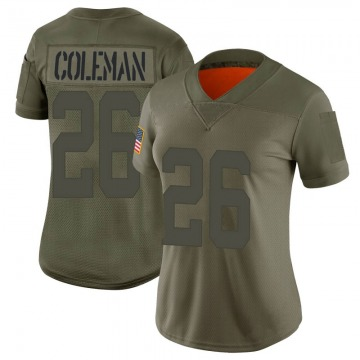 Women's Nike San Francisco 49ers Tevin Coleman Camo 2019 Salute to Service Jersey - Limited