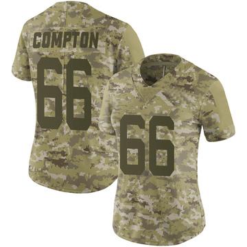 Women's Nike San Francisco 49ers Tom Compton Camo 2018 Salute to Service Jersey - Limited