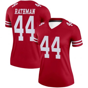 Women's Nike San Francisco 49ers Tom Rathman Scarlet Jersey - Legend