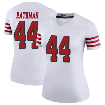 Women's Nike San Francisco 49ers Tom Rathman White Color Rush Jersey - Legend