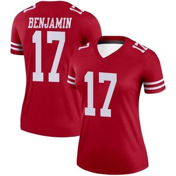 Women's Nike San Francisco 49ers Travis Benjamin Scarlet Jersey - Legend