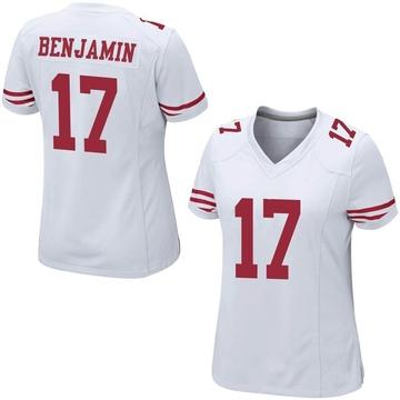 Women's Nike San Francisco 49ers Travis Benjamin White Jersey - Game