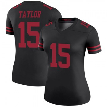 Women's Nike San Francisco 49ers Trent Taylor Black Color Rush Jersey - Legend