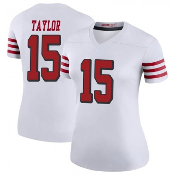 Women's Nike San Francisco 49ers Trent Taylor White Color Rush Jersey - Legend