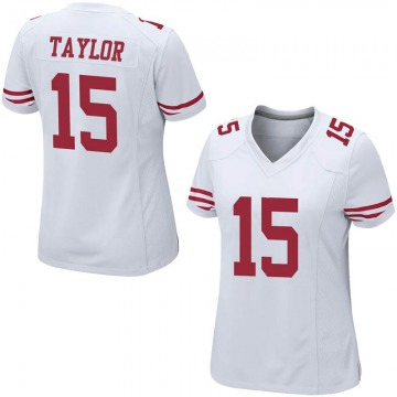 Women's Nike San Francisco 49ers Trent Taylor White Jersey - Game