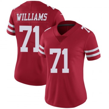 Women's Nike San Francisco 49ers Trent Williams Scarlet 100th Vapor Jersey - Limited