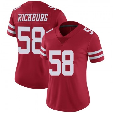 Women's Nike San Francisco 49ers Weston Richburg Scarlet 100th Vapor Jersey - Limited