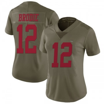 Women's Nike San Francisco 49ers Wilson John Brodie Green 2017 Salute to Service Jersey - Limited