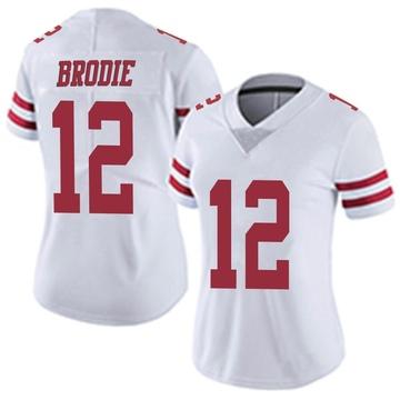 Women's Nike San Francisco 49ers Wilson John Brodie White Vapor Untouchable Jersey - Limited