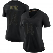 Women's Nike San Francisco 49ers Y.A. Tittle Black 2020 Salute To Service Jersey - Limited