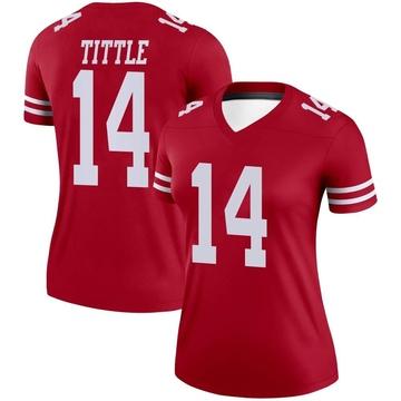 Women's Nike San Francisco 49ers Y.A. Tittle Scarlet Jersey - Legend