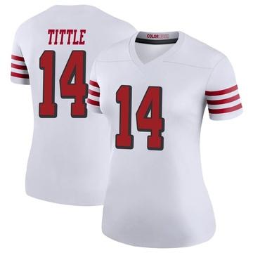 Women's Nike San Francisco 49ers Y.A. Tittle White Color Rush Jersey - Legend