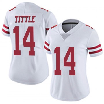 Women's Nike San Francisco 49ers Y.A. Tittle White Vapor Untouchable Jersey - Limited