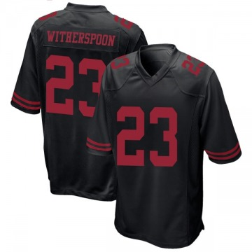 Youth Nike San Francisco 49ers Ahkello Witherspoon Black Alternate Jersey - Game