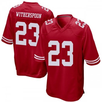 Youth Nike San Francisco 49ers Ahkello Witherspoon Red Team Color Jersey - Game