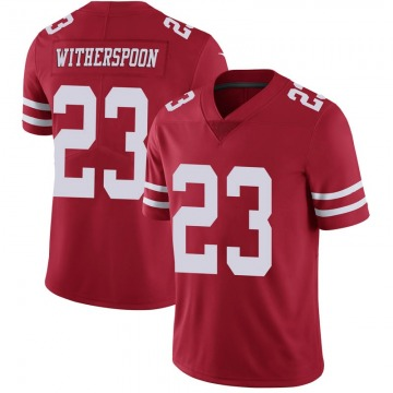 Youth Nike San Francisco 49ers Ahkello Witherspoon Scarlet 100th Vapor Jersey - Limited