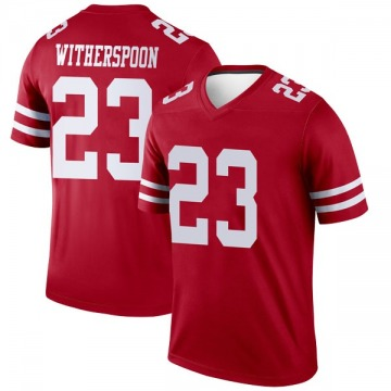 Youth Nike San Francisco 49ers Ahkello Witherspoon Scarlet Jersey - Legend