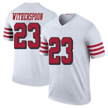 Youth Nike San Francisco 49ers Ahkello Witherspoon White Color Rush Jersey - Legend