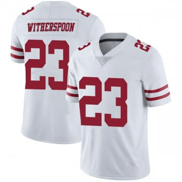 Youth Nike San Francisco 49ers Ahkello Witherspoon White Vapor Untouchable Jersey - Limited