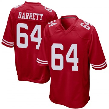 Youth Nike San Francisco 49ers Alex Barrett Red Team Color Jersey - Game