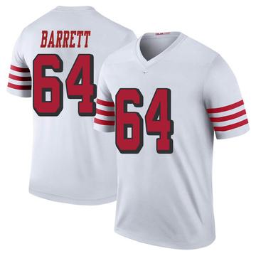 Youth Nike San Francisco 49ers Alex Barrett White Color Rush Jersey - Legend