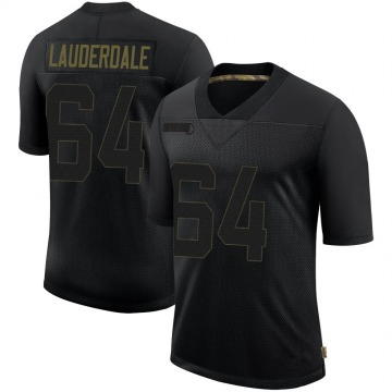 Youth Nike San Francisco 49ers Andrew Lauderdale Black 2020 Salute To Service Jersey - Limited