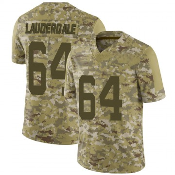 Youth Nike San Francisco 49ers Andrew Lauderdale Camo 2018 Salute to Service Jersey - Limited