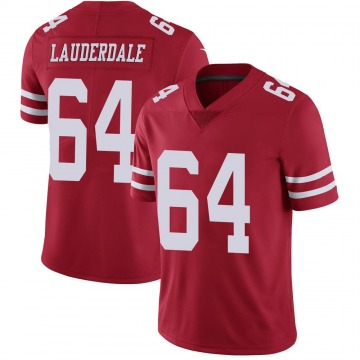 Youth Nike San Francisco 49ers Andrew Lauderdale Scarlet 100th Vapor Jersey - Limited