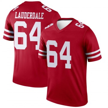 Youth Nike San Francisco 49ers Andrew Lauderdale Scarlet Jersey - Legend