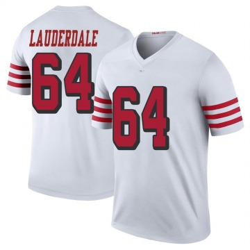 Youth Nike San Francisco 49ers Andrew Lauderdale White Color Rush Jersey - Legend