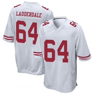 Youth Nike San Francisco 49ers Andrew Lauderdale White Jersey - Game