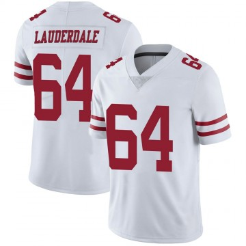 Youth Nike San Francisco 49ers Andrew Lauderdale White Vapor Untouchable Jersey - Limited