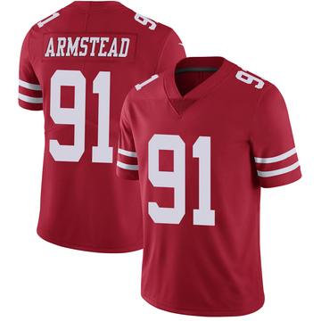 Youth Nike San Francisco 49ers Arik Armstead Scarlet 100th Vapor Jersey - Limited