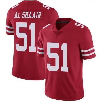 Youth Nike San Francisco 49ers Azeez Al-Shaair Red Team Color Vapor Untouchable Jersey - Limited