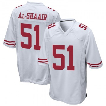 Youth Nike San Francisco 49ers Azeez Al-Shaair White Jersey - Game