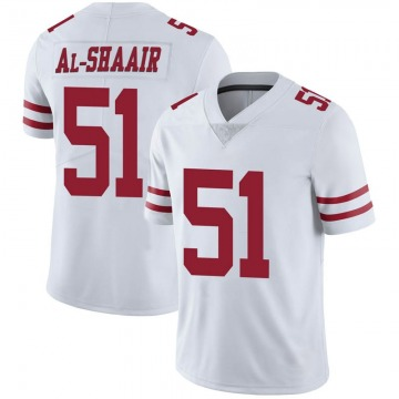 Youth Nike San Francisco 49ers Azeez Al-Shaair White Vapor Untouchable Jersey - Limited