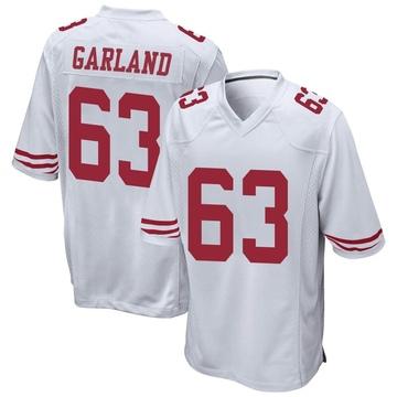 Youth Nike San Francisco 49ers Ben Garland White Jersey - Game