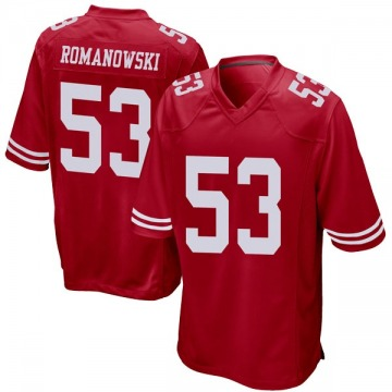 Youth Nike San Francisco 49ers Bill Romanowski Red Team Color Jersey - Game