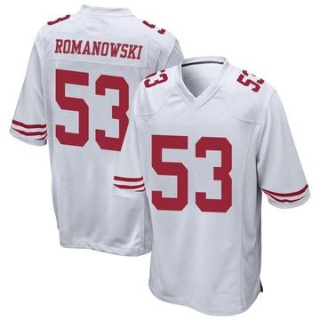 Youth Nike San Francisco 49ers Bill Romanowski White Jersey - Game