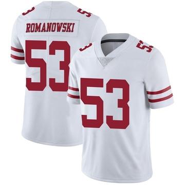 Youth Nike San Francisco 49ers Bill Romanowski White Vapor Untouchable Jersey - Limited