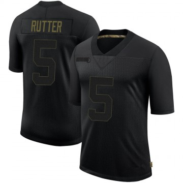 Youth Nike San Francisco 49ers Broc Rutter Black 2020 Salute To Service Jersey - Limited