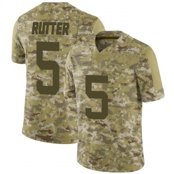 Youth Nike San Francisco 49ers Broc Rutter Camo 2018 Salute to Service Jersey - Limited