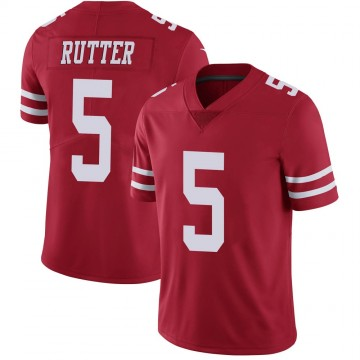 Youth Nike San Francisco 49ers Broc Rutter Red Team Color Vapor Untouchable Jersey - Limited