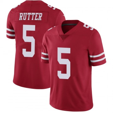 Youth Nike San Francisco 49ers Broc Rutter Scarlet 100th Vapor Jersey - Limited
